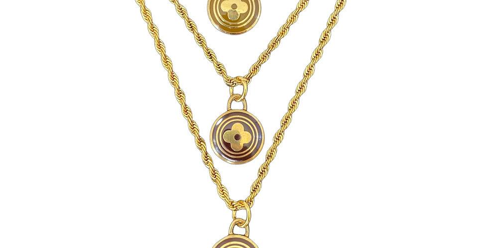 Authentic Louis Vuitton Pastille Flower Pendant - Repurposed Necklace