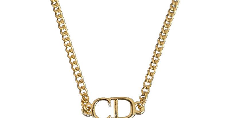 Authentic Christian Dior - Repurposed Cuban Necklace