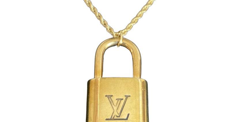Authentic Vintage Louis Vuitton Padlock - Repurposed Necklace