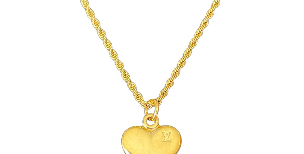Authentic Louis Vuitton Heart Pendant - Repurposed Necklace