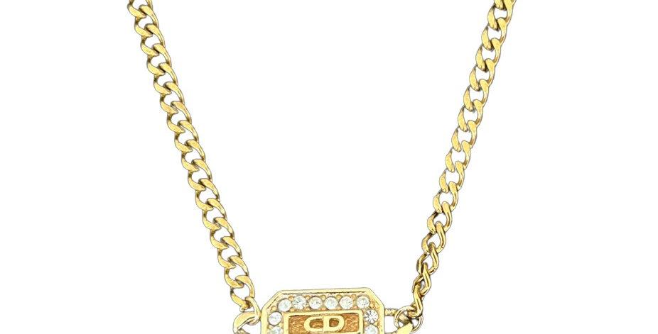 Authentic Christian Dior Diamond Emblem - Repurposed Necklace
