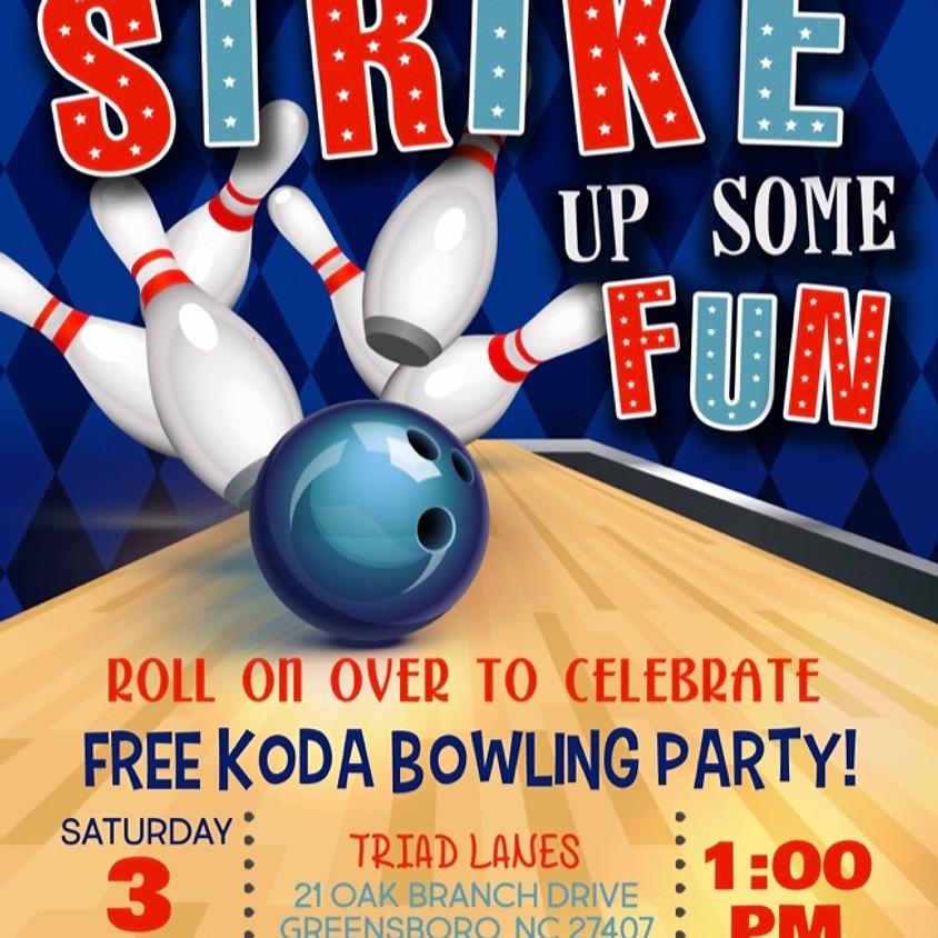 FREE KODA BOWLING PARTY!