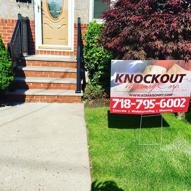 Front Steps and Front Railings #ozone park #knockoutmasonrycorp #jimmyjr1219 #kokid