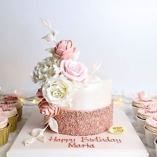 Rose gold theme. 🌹 . 🎉 For more information please contact : 📲Line: @hobbycake (อย่าลืม