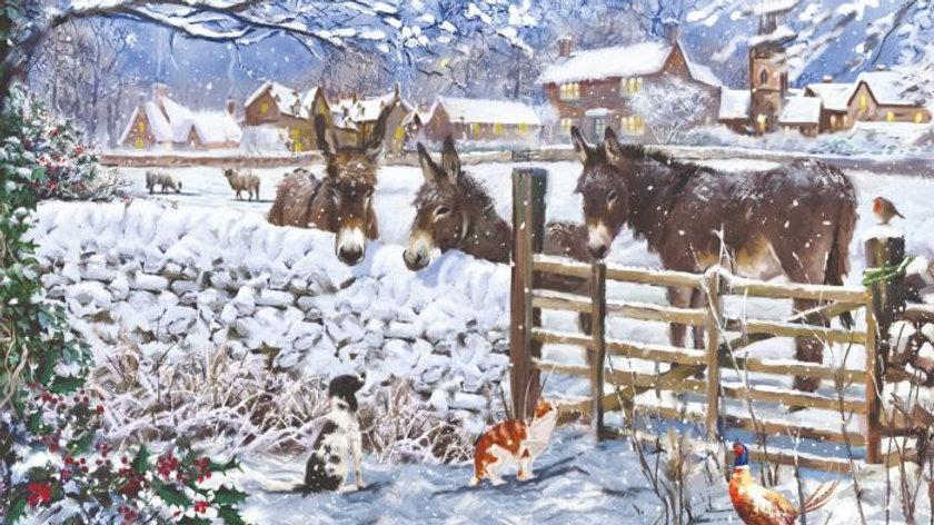 Cartes de Noël - Winter on the Farm