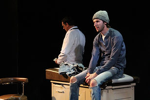 Aaron Johnson and André Martin in The Totalitarians by Peter Sinn Nachtrieb