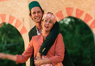 Aaron Johnson and Rene Fulton in 'Comedy of Errors' with Penfold Theatre Co.