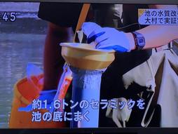NHK長崎放送局「池の水質浄化」