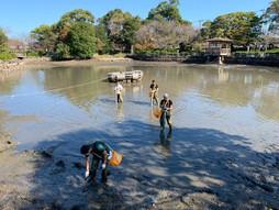 長崎県大村公園にて水質浄化実験開始