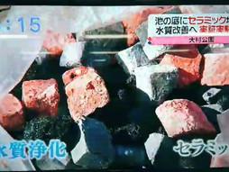長崎国際テレビ「水質改善実証実験開始」
