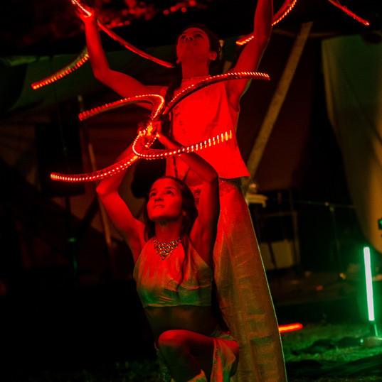 Prisma Led Show at New Healing Festival,