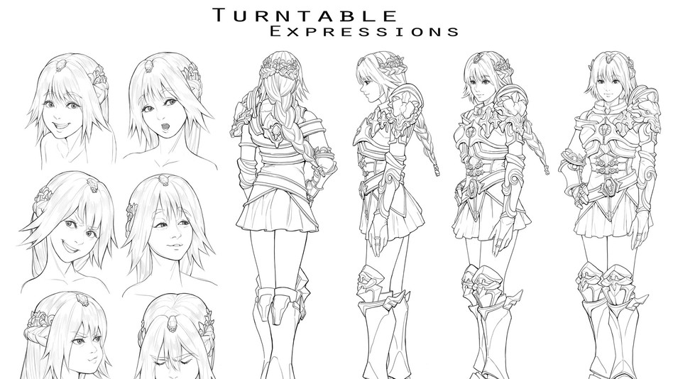 Character Design Turntable