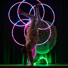 Prisma Led Show at Alpine Hoop Retreat-