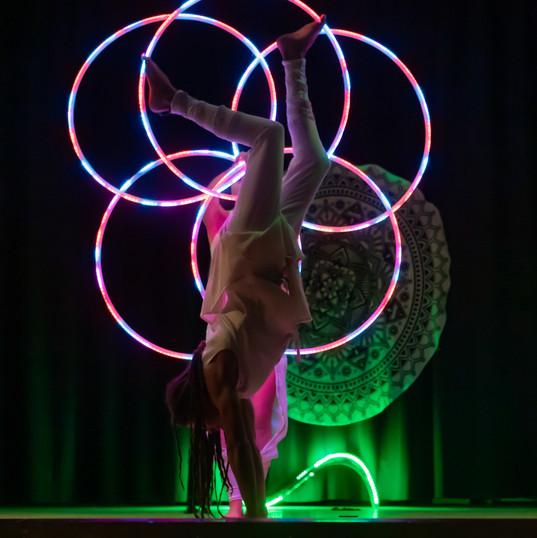 Prisma Led Show at Alpine Hoop Retreat-