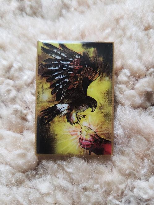 Harris Hawk pin