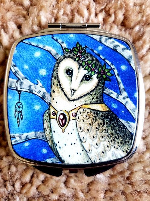 Queen of Owls- Mirror Compact