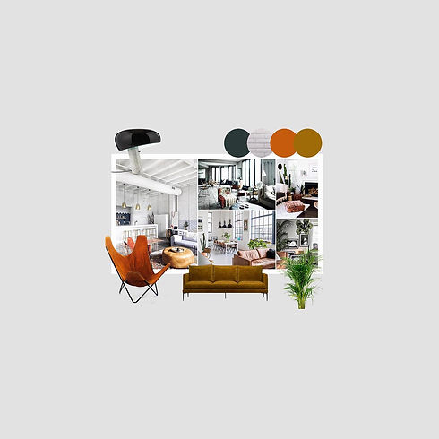Moodboard deco d'un projet réalisé par designer d'intérieur