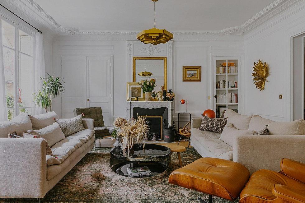 Appartement haussmannien renové par une décoratrice d'intérieur à Paris