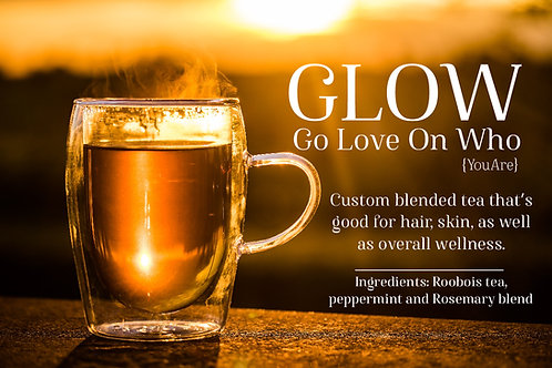 BUNDLE 4oz * GLOW-Go Love On Who {You Are} Tea Bags (10) and Mane Espresso® 4oz