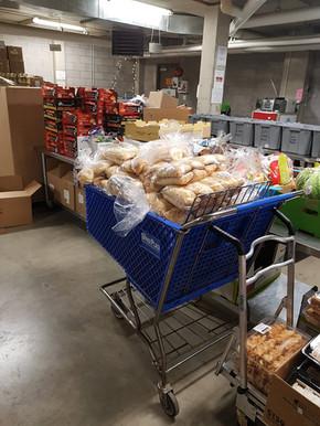 Donations at the Food Hub