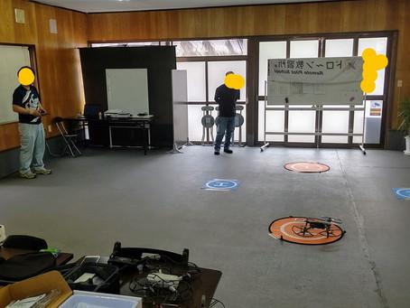 コロナウイルス自粛後の講習を再開しました。佐賀県からお越し頂いたJ様講習お疲れさまでした。実機の安定した飛行にソフトの難関レベル10をクリアおめでとうございます。