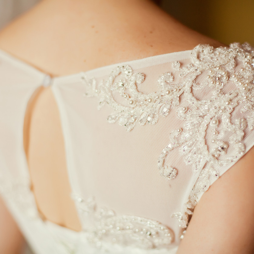 laglums event, organisateur de mariage robe de mariée de dos