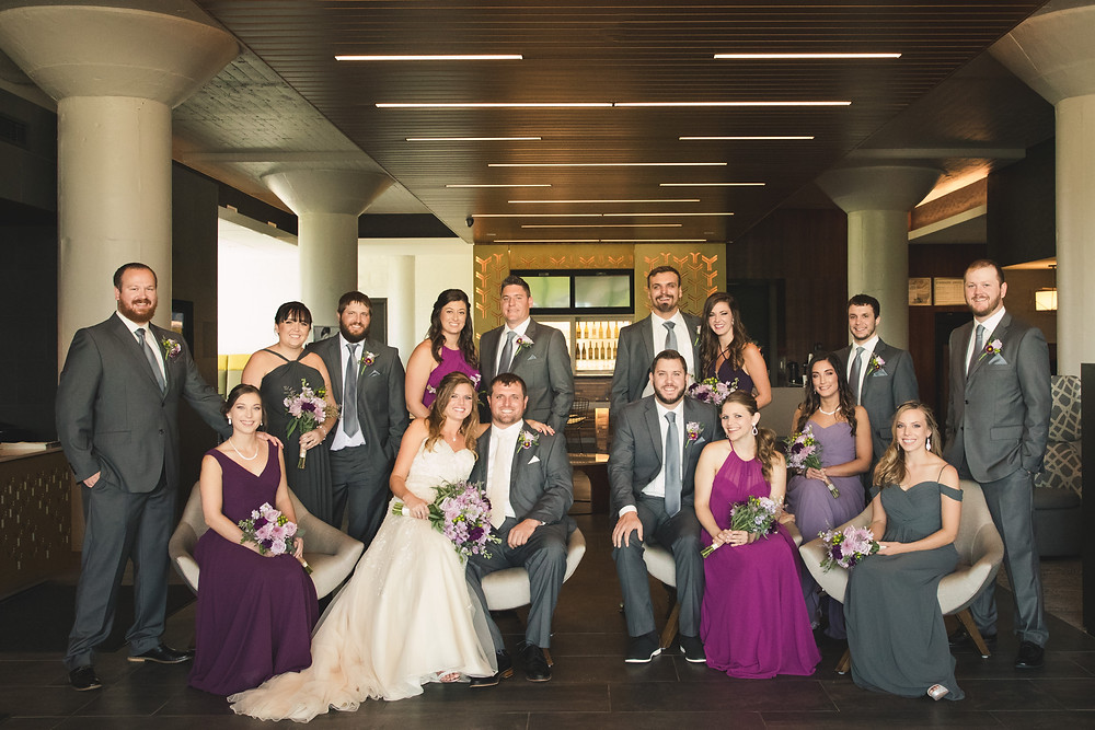 Beautiful formal bridal party.