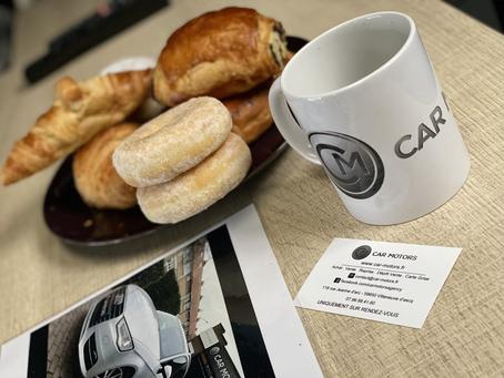 Chez CAR MOTORS c'est toujours l'heure du petit déjeuner