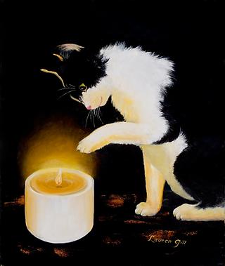 Painting - No, No, Kitty!.tif