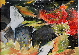 Painting - Rocks and Wildflowers.jpg