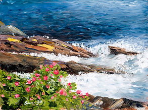 Painting - Rocks and Roses .jpg
