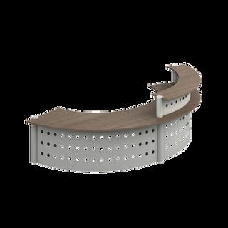 Muebles de recepción curva dos niveles req