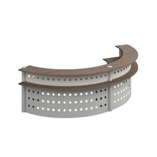 Muebles de recepcion curva doble req