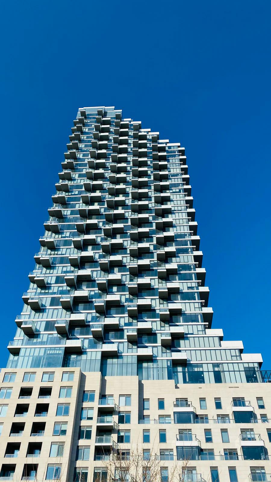 Condo Tower looking up toward sky