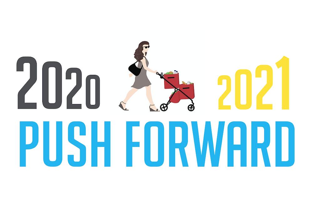 New Year Push Forward Illustration