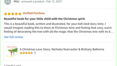 """Beautiful book for your child with the Christmas Spirit"" 5 out of 5 stars!"