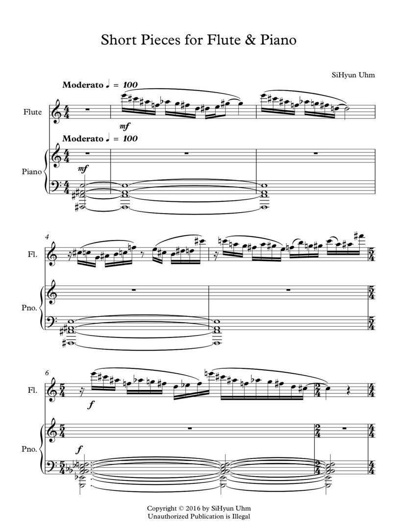 short little pieces for Flute & Piano pg