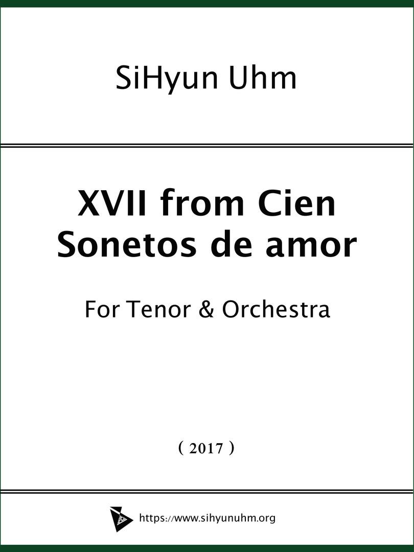 XVII from Cien  Sonetos de amor Cover.jp