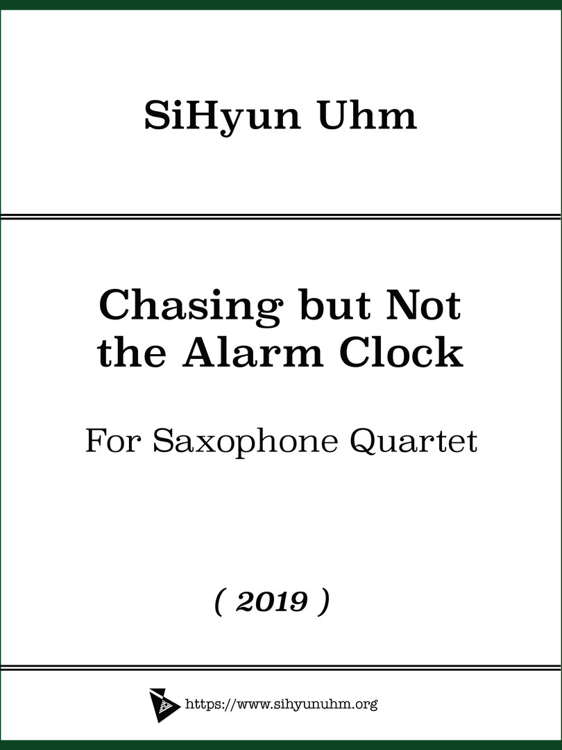 Chasing but Not the Alarm Clock Cover.jp