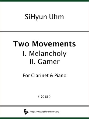 Two Movements for Clarinet & Piano Cover