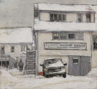 Beacon Marine Yard, Winter No. 2