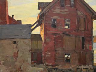 Paint Factory in Winter Light