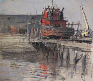Tug and Crane at Marine Railways