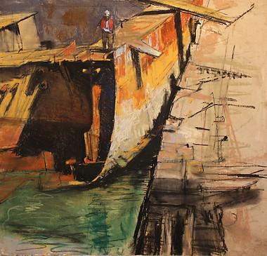 Derelict Boat & Yard Worker