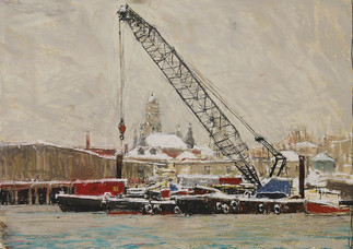 Barges in Winter