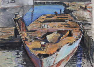 Blue Boat, Salvage Yard, E.B.