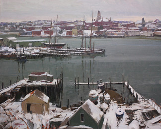 Gloucester Harbor, Winter