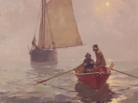 Gloucestermen on a Fogbound Sea