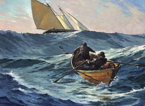 Setting the Trawl in a Heavy Sea