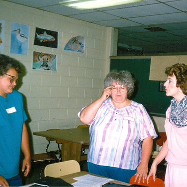 June 1988 - Cazzollli (on right) organizes & trains committee to serve on upcoming ALSA Eastern OH Chapter